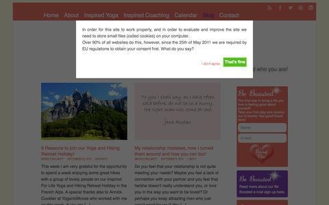 Screenshot of Blog inspired-4-life.com - Inspired For Life Blog   Inspired For Life - captured Sept. 30, 2014