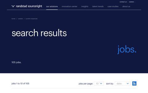 Randstad Sourceright jobs | Randstad Sourceright