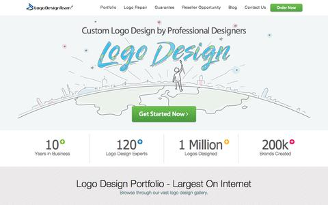 Screenshot of Home Page logodesignteam.com - Custom Logo Design by Professional Logo Designers of Logo Design Team - captured June 18, 2017