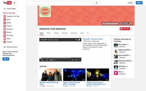 Screenshot of YouTube Page youtube.com - awesome nula awesome  - YouTube - captured Oct. 26, 2014