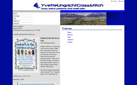Screenshot of Site Map Page yvetteungrichtcrossstitch.com - Site Map - captured Oct. 9, 2014