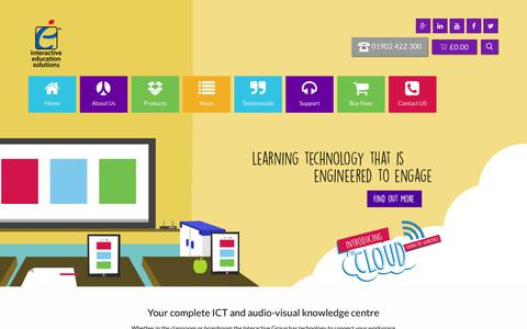 Screenshot of Home Page interactive-education.co.uk - Interactive Education - Interactive whiteboards & screens, Smart boards - captured Sept. 19, 2018