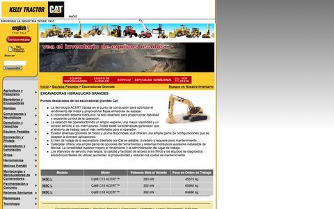 Screenshot of Landing Page kellytractor.com - Kelly Tractor Excavadoras Hidráulicas Grandes - captured Aug. 12, 2016