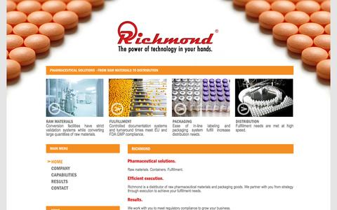 Screenshot of Home Page richmondpharma.com - Richmond Pharma International - captured Oct. 6, 2014