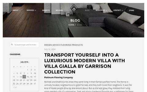 Screenshot of Blog platinumflooringcompany.com - Hardwood Flooring Blog | Platinum Flooring Company - captured July 14, 2016