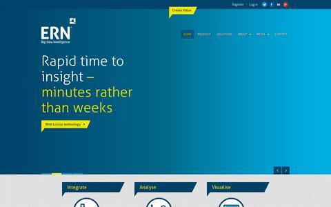 Screenshot of Home Page ernglobal.com - ERN Global - captured July 11, 2014