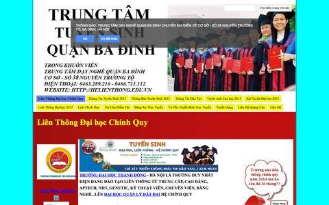 Screenshot of Home Page helienthong.edu.vn - Hệ Liên Thông Đại học Chính Quy - captured Sept. 17, 2015