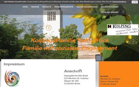 Screenshot of About Page jimdo.com - Impressum - Kolping Mitglied werden - captured April 1, 2017