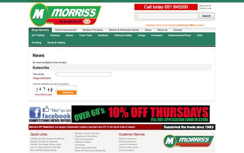 Screenshot of Signup Page morrisdiy.com - Morris's DIY  :: News archive - captured Oct. 26, 2014