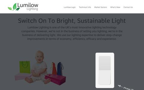 Screenshot of Home Page lumilow.com - Retail & Industrial LED Lighting & Installation - Lumilow, UK - captured Feb. 2, 2016