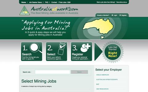 Screenshot of Home Page australiaatwork.com - Australia At Work - captured Sept. 1, 2015
