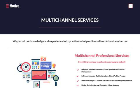 Screenshot of Services Page e-motiveonline.com - Services – E-motiveonline - captured Dec. 7, 2018