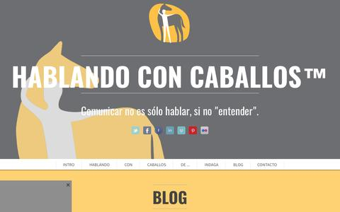 Screenshot of Blog hablandoconcaballos.org - Blog - captured May 13, 2017
