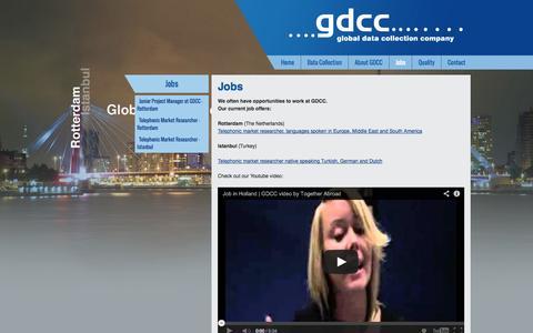Screenshot of Jobs Page gdcc.com - Jobs - captured Oct. 1, 2014