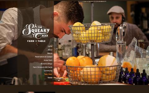 Screenshot of Team Page thesqueakybean.com - Team Bean | Squeaky Bean Farm and Table | Denver Restaurants - captured Dec. 5, 2017