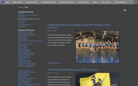 Screenshot of Blog wecovercheer.com - We Cover Cheer | Blog - captured Jan. 12, 2016