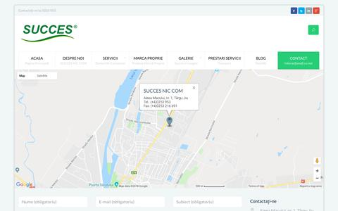 Screenshot of Contact Page succes.ro - Contact - SUCCES NIC COM - captured July 26, 2018