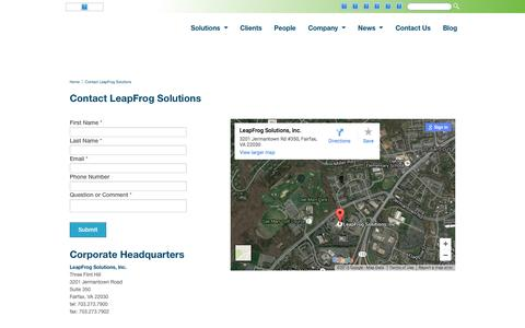 LeapFrog Solutions - Contact LeapFrog Solutions