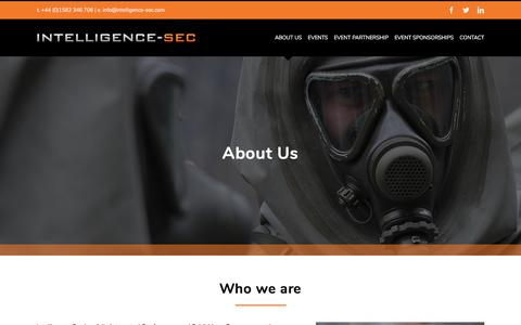 Screenshot of About Page intelligence-sec.com - About Us – Intelligence-Sec - captured Sept. 7, 2019