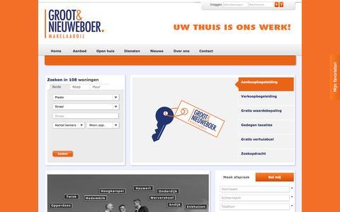 Screenshot of Home Page grootnieuweboer.nl - Home - Groot & Nieuweboer Makelaardij Bovenkarspel - captured Nov. 16, 2016