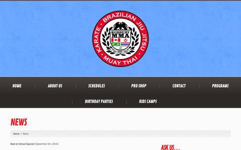 Screenshot of Press Page sudburymma.com - News  |  Sudbury MMA - captured Sept. 30, 2014
