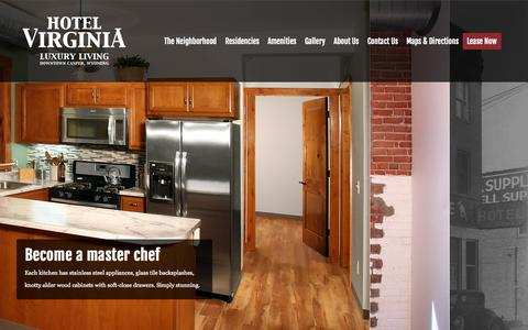 Screenshot of Home Page hotelvirginiaapartments.com - Hotel Virginia Apartments - Hotel Virginia Apartments - captured Oct. 3, 2014