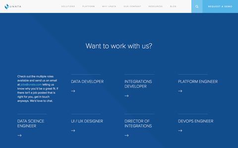 Screenshot of Jobs Page unata.com - Careers – Unata - captured Feb. 13, 2016