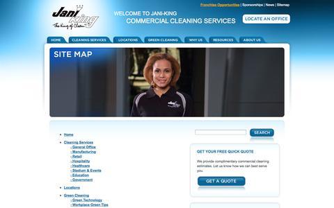 Screenshot of Site Map Page janiking.com - Sitemap | Jani-King - captured Oct. 31, 2014