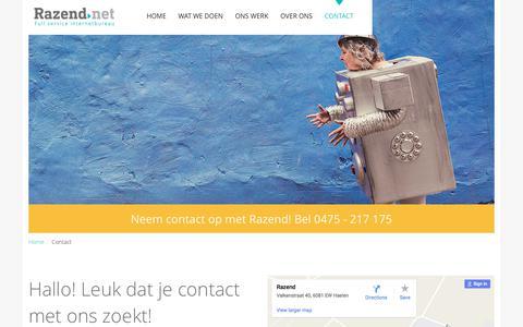 Screenshot of Contact Page razend.net - Contact | Razend - Full Service Internetbureau - captured June 12, 2017