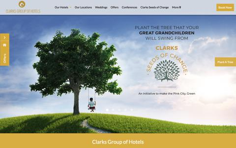 Screenshot of Home Page hotelclarks.com - Clarks Group of Hotels | Clarks Amer | Clarks Lucknow | Clarks Avadh - captured Sept. 23, 2018
