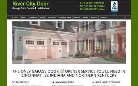 Screenshot of Home Page rivercitydoor.com - Homepage - River City Door - captured Jan. 26, 2015