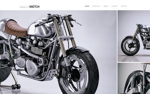 Screenshot of Home Page designatsketch.com - Design at Sketch | CGI Studio - captured June 4, 2017