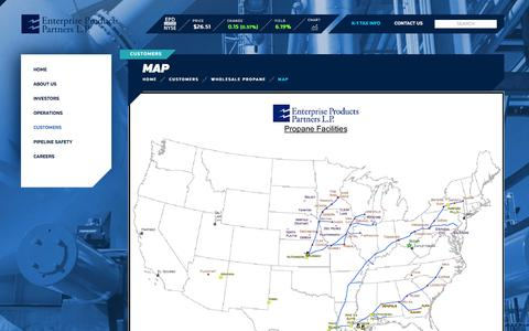 Screenshot of Maps & Directions Page enterpriseproducts.com - Map | Enterprise Products - captured May 19, 2017