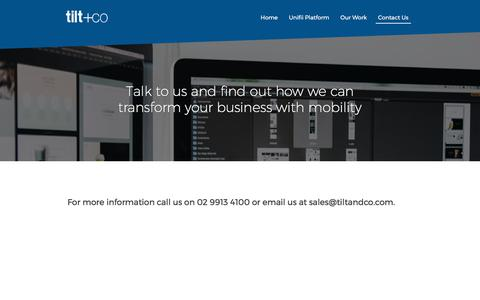 Screenshot of Contact Page tiltandco.com - Contact Us - Tilt & Co - captured Oct. 24, 2017