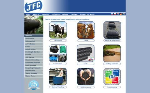 Screenshot of Site Map Page jfc.ie - Products - captured Oct. 4, 2014