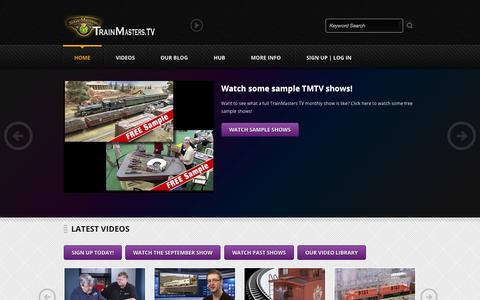 Screenshot of Home Page trainmasters.tv - TrainMasters TV | Helping you be a better modeler, one video at a time - captured Sept. 25, 2014