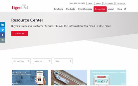 Resource Center | TigerText