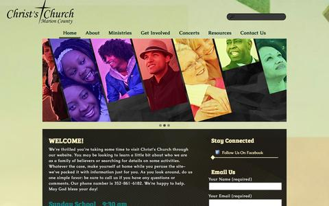 Screenshot of Home Page ccomc.org - Christs Church of Marion County - captured Oct. 2, 2014