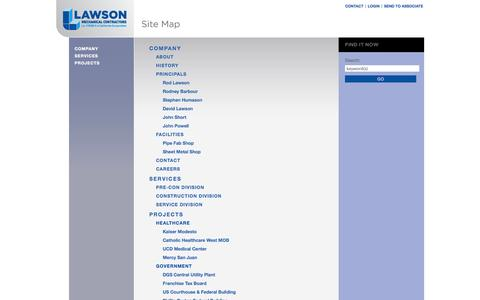 Screenshot of Site Map Page lawsonmechanical.com - Lawson Mechanical / Site Map - captured Oct. 2, 2014