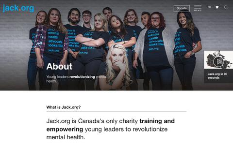 Screenshot of About Page jack.org - Jack.org - About - captured July 18, 2018