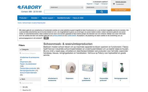 Bij Fabory bestelt u Schoonmaak- & wasruimteproducten van hoge kwaliteit | Fabory, Nederland
