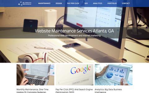 Screenshot of Home Page mywebsitemaintenance.net - My Website Maintenance - Agency - Atlanta, GA - captured Nov. 10, 2017