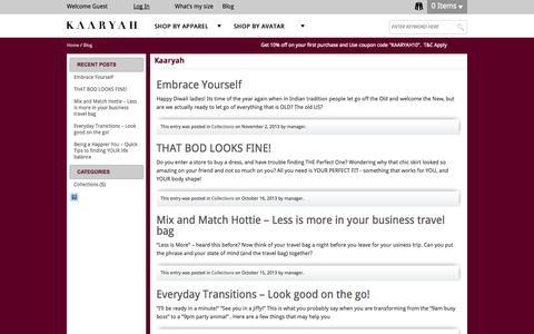 Screenshot of Blog kaaryah.com - Kaaryah - captured Sept. 23, 2014