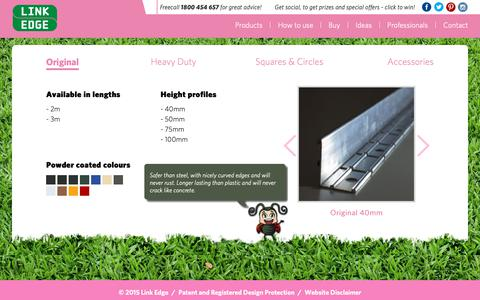 Screenshot of Products Page linkedge.com.au - Link Edge: Metal Garden and Lawn Edging Products - captured Nov. 5, 2018