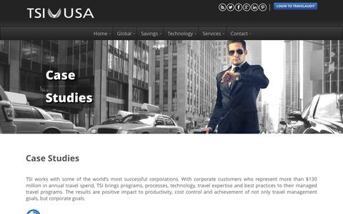 Screenshot of Case Studies Page tsiusa.com - Case Studies - Travel Solutions International USA - captured Feb. 17, 2016