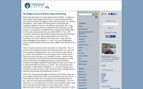 Screenshot of Blog tridentcap.com - Trident Capital Blog - captured Oct. 7, 2014