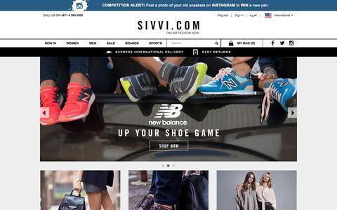 Screenshot of Home Page sivvi.com - Shop for Men's & Women's Clothing Online   SIVVI.COM - captured Oct. 8, 2015