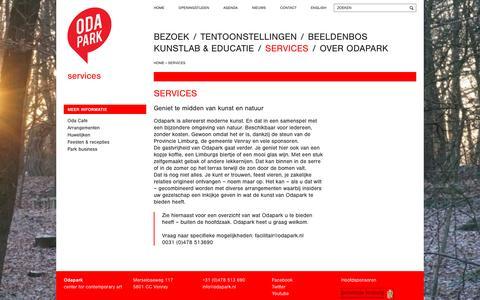 Screenshot of Services Page odapark.nl - Services - Odapark - captured Feb. 26, 2016