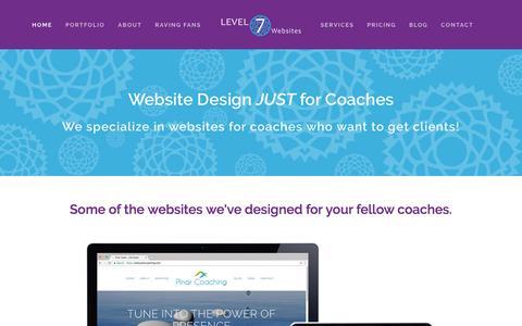 Screenshot of Home Page Blog About Page Pricing Page level7websites.com - Level 7 Websites - captured Jan. 16, 2018