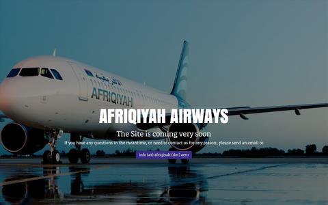 Screenshot of Home Page afriqiyah.aero - Afriqiyah Airways - captured Jan. 16, 2016
